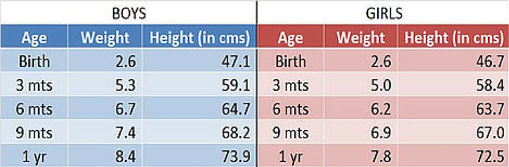 What Should Be The Ideal Weight Gain Of The Baby In The First Year