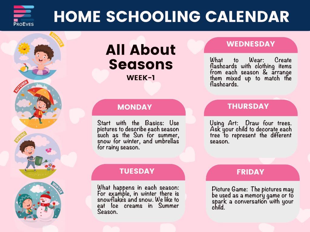 homeschooling calendar