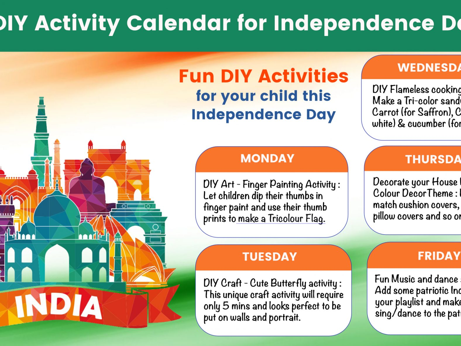 independence day activities for your children