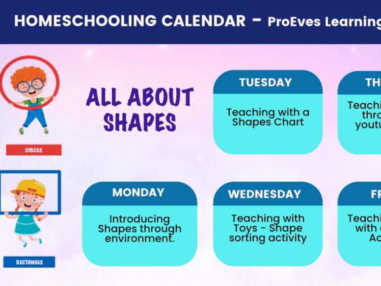 shapes calendar