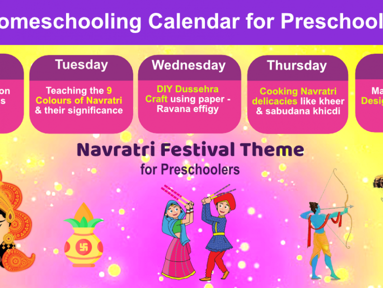 navratri activities for preschoolers