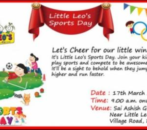 Little Leos Preschool Liitle Leo's Sports Day